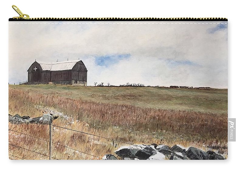 Landscape Carry-all Pouch featuring the painting Mt Savior Barn by Joel Charles