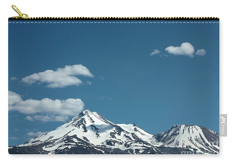 Cloud Carry-all Pouch featuring the photograph Mt Shasta With Heart-shaped Cloud by Carol Groenen