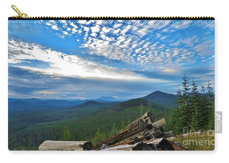 Mt. St. Helens Carry-all Pouch featuring the photograph Mt. St. Helens And Red Mountain by Mel Manning