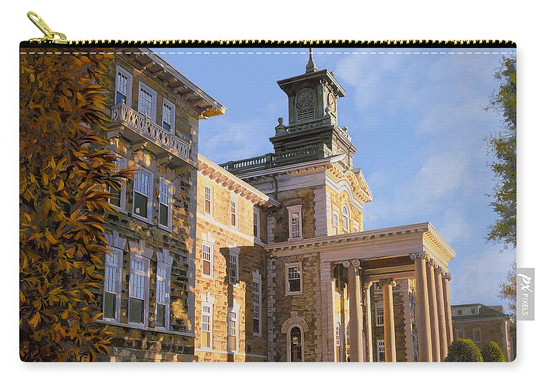 New Jersey Carry-all Pouch featuring the painting Mt St.mary Academy by Guido Borelli