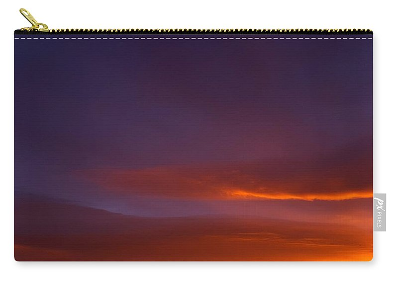 Landscape/ Sunrise Carry-all Pouch featuring the photograph Mt Taylor Grandeur Vista by Rudy Gallegos