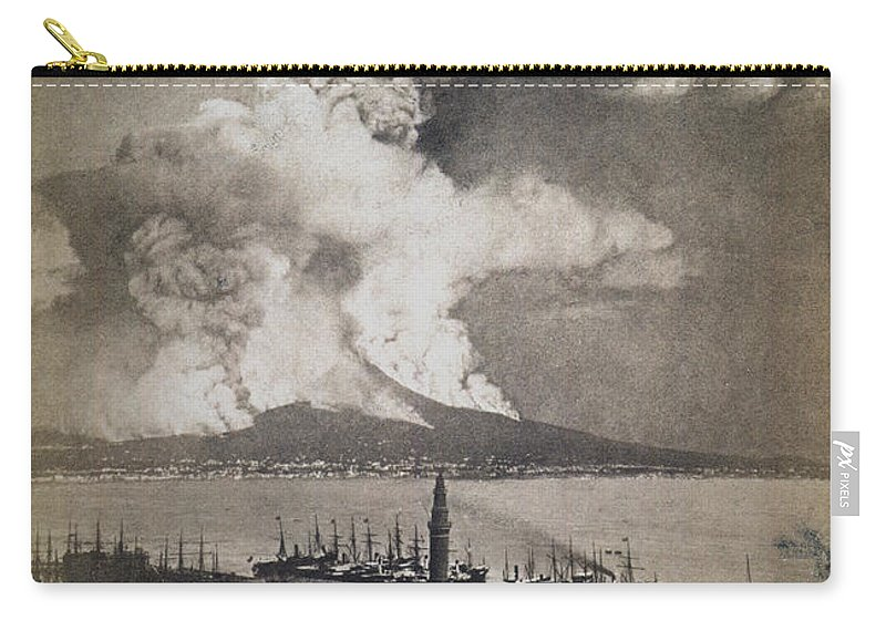 1872 Carry-all Pouch featuring the photograph Mt. Vesuvius Erupting by Granger