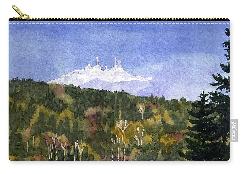 Landscape Carry-all Pouch featuring the painting Almost Mystical by Sharon E Allen