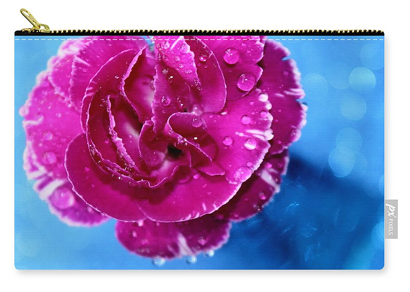 Carnation Carry-all Pouch featuring the photograph Much Love by Krissy Katsimbras
