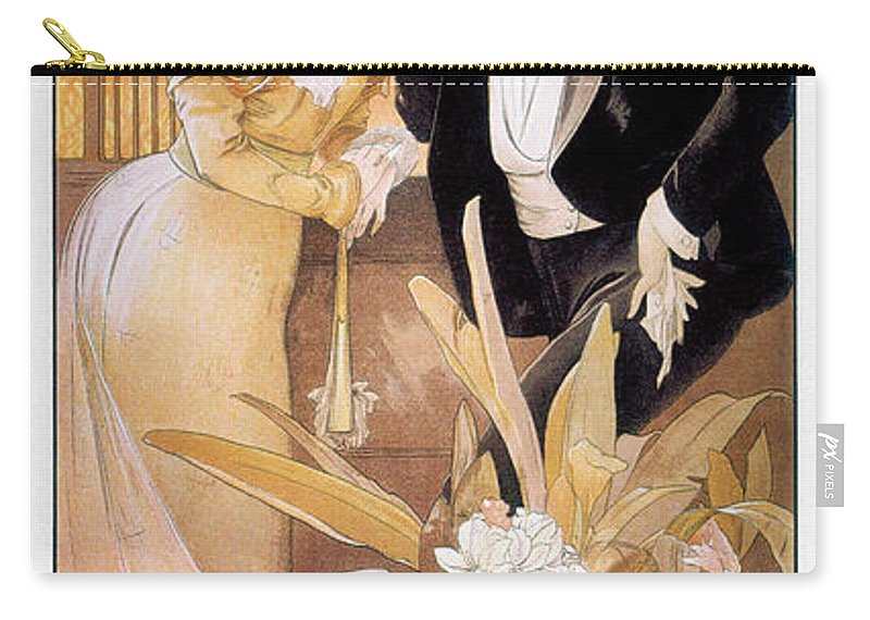 1895 Carry-all Pouch featuring the photograph Mucha: Biscuit Ad, C1895 by Granger