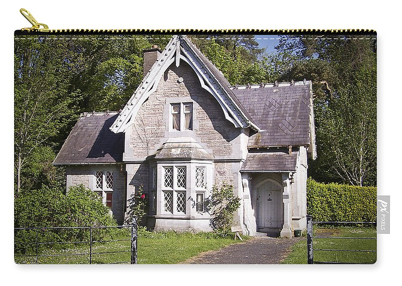 Irish Carry-all Pouch featuring the photograph Muckross Cottage Killarney Ireland by Teresa Mucha