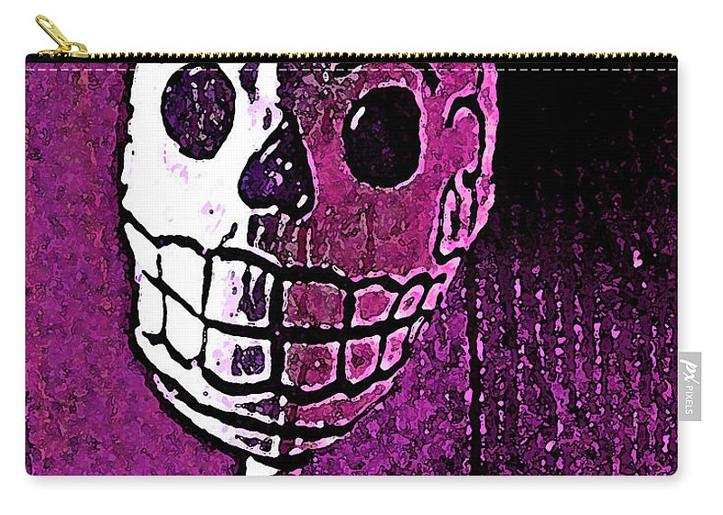 Skull Carry-all Pouch featuring the photograph Muertos 3 by Pamela Cooper