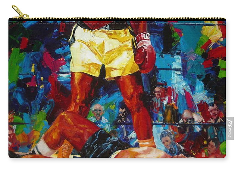 Ignatenko Carry-all Pouch featuring the painting Muhammad Ali by Sergey Ignatenko