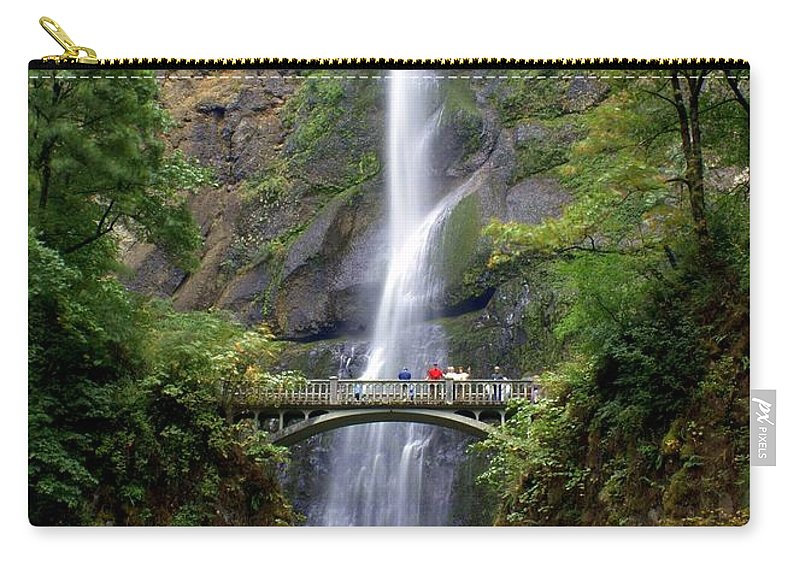 Waterfalls Carry-all Pouch featuring the photograph Multanomah Falls by Marty Koch