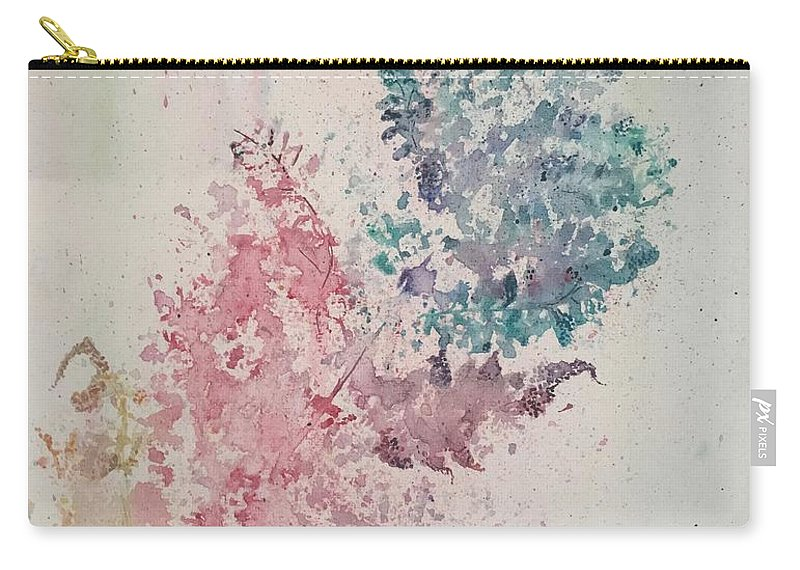 Fern Carry-all Pouch featuring the mixed media Multicolour Fern by Karen Bicknell