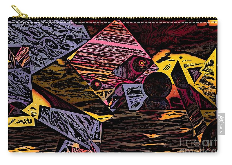 Carry-all Pouch featuring the digital art Multiverse II by David Lane