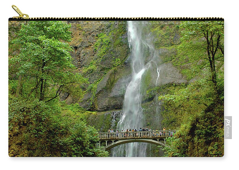 Bridge Carry-all Pouch featuring the photograph Multnomah Falls 3 by SC Heffner