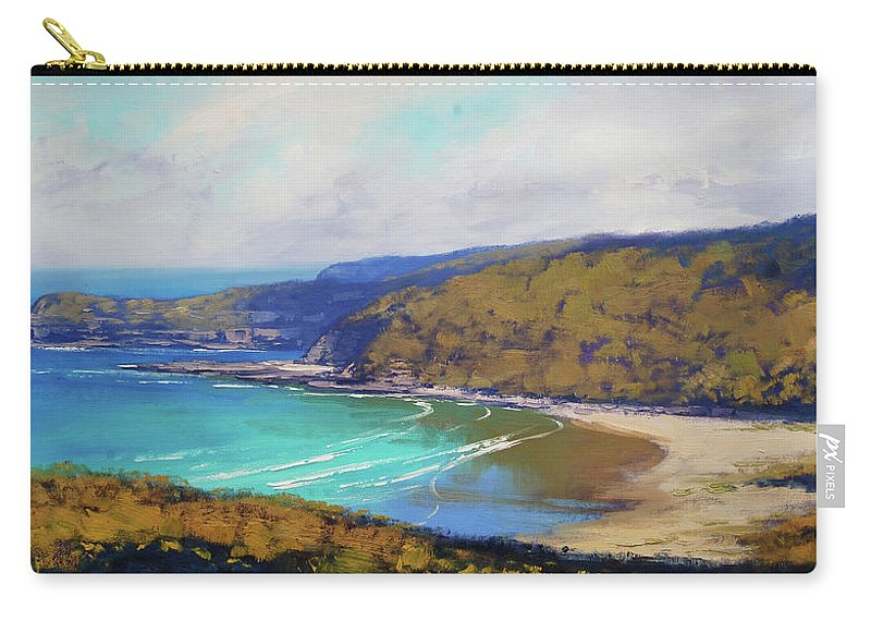 Nature Carry-all Pouch featuring the painting Munmorah Coastline Australia by Graham Gercken