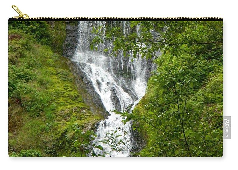 Munson Creek Falls Carry-all Pouch featuring the photograph Munson Creek Falls by Gallery Of Hope