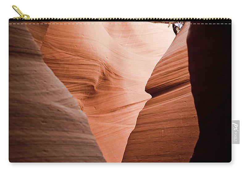 Slot Canyon Carry-all Pouch featuring the photograph Mupltiple Openings by Scott Sawyer