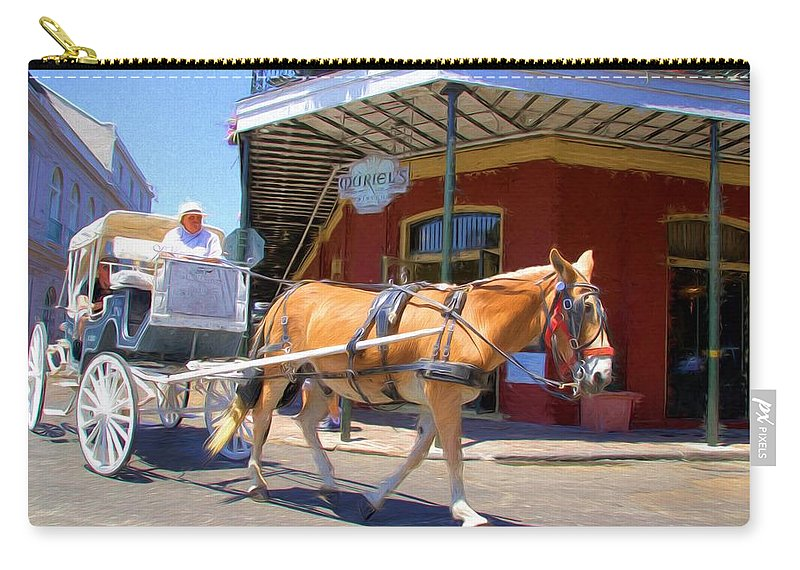 New Orleans Carry-all Pouch featuring the photograph Muriel's Mule by Alice Gipson