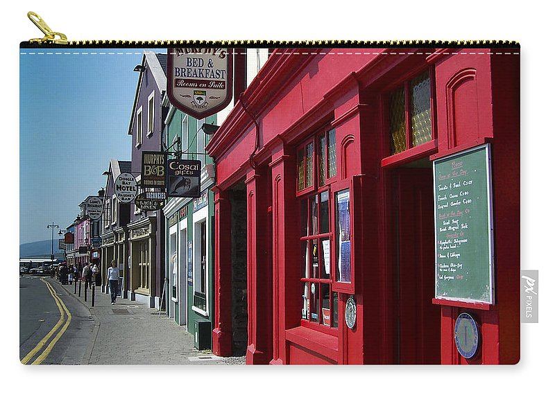 Irish Carry-all Pouch featuring the photograph Murphys Bed And Breakfast Dingle Ireland by Teresa Mucha