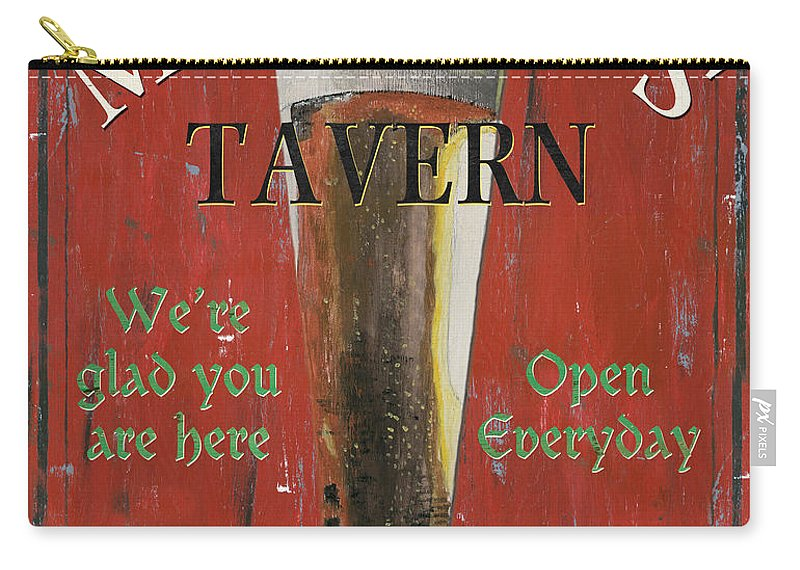 Beer Carry-all Pouch featuring the painting Murphy's Tavern by Debbie DeWitt