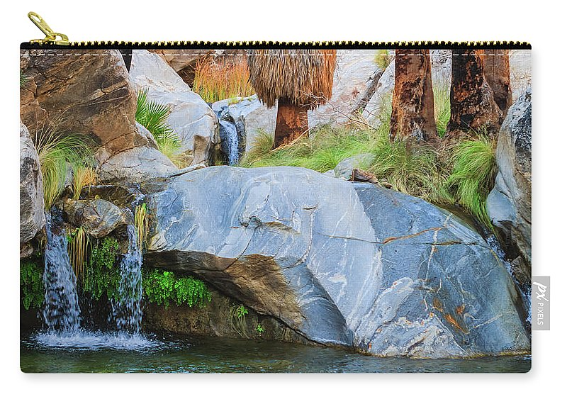 Waterfall Carry-all Pouch featuring the photograph Murray Canyon Falls by Scott Campbell