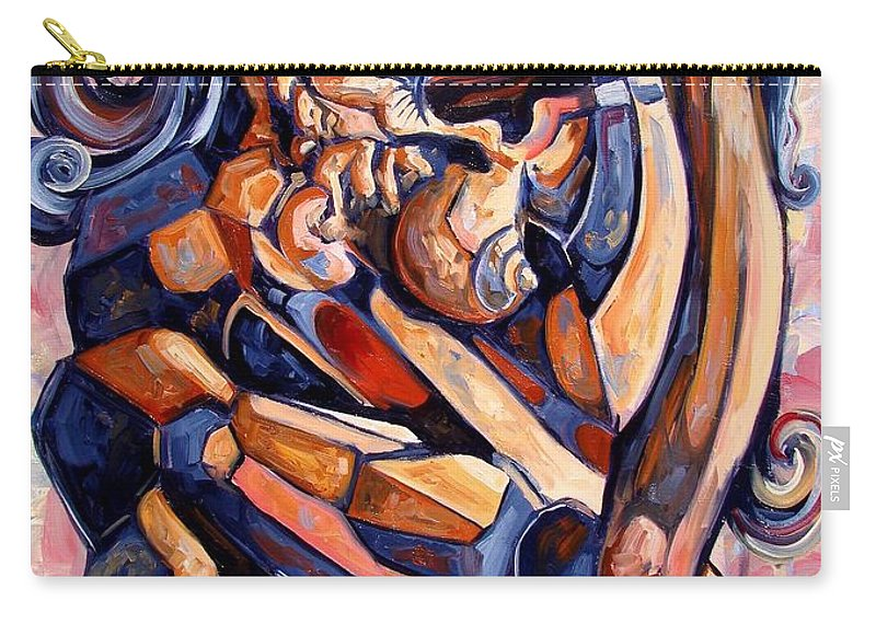 Surrealism Carry-all Pouch featuring the painting Muse In A Box by Darwin Leon