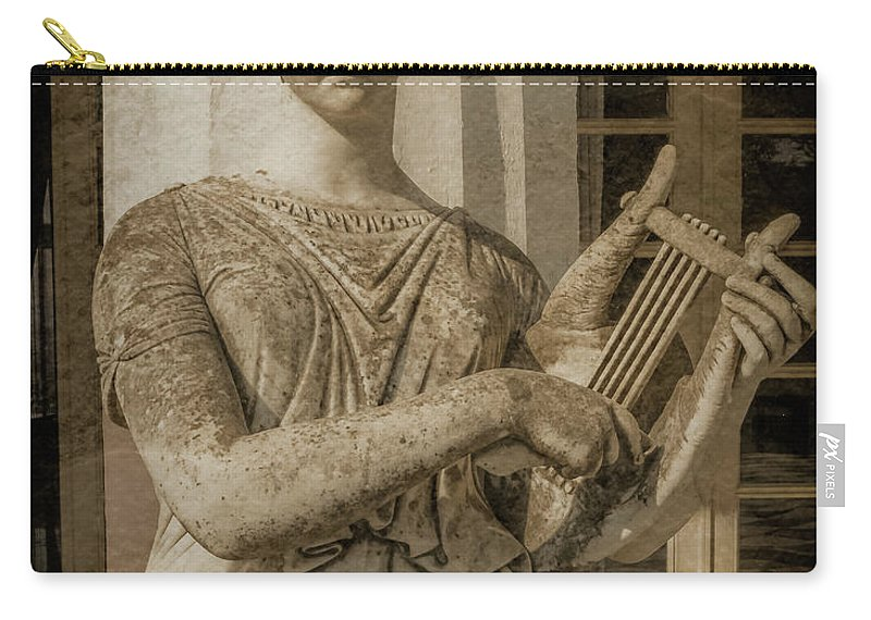 Achilleion Carry-all Pouch featuring the photograph Achilleion, Corfu, Greece - The Muse Terpsichore by Mark Forte