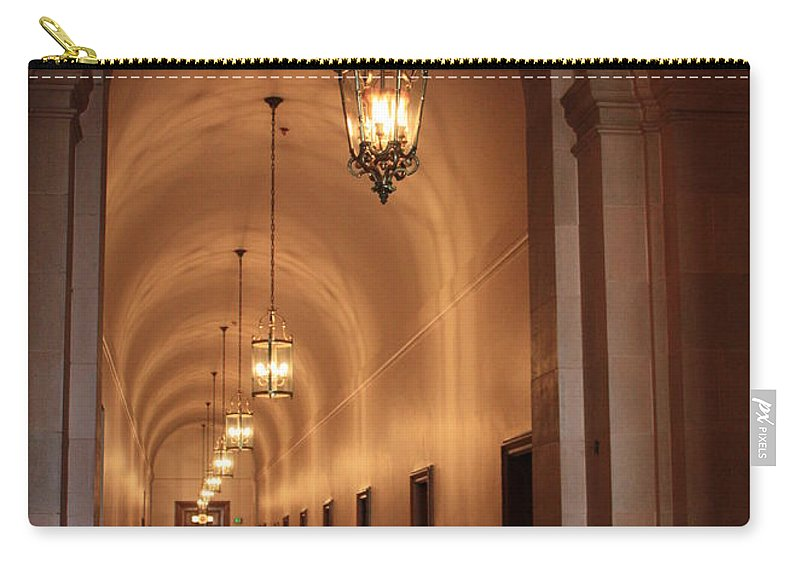 Hallway Carry-all Pouch featuring the photograph Museum Hallway by Carol Groenen