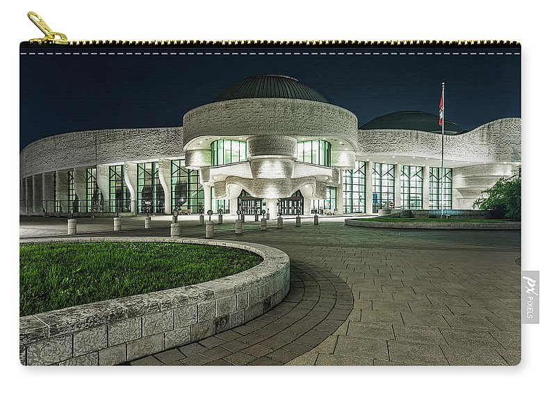 Museum Carry-all Pouch featuring the photograph Museums Face Entrance by Darlene Munro