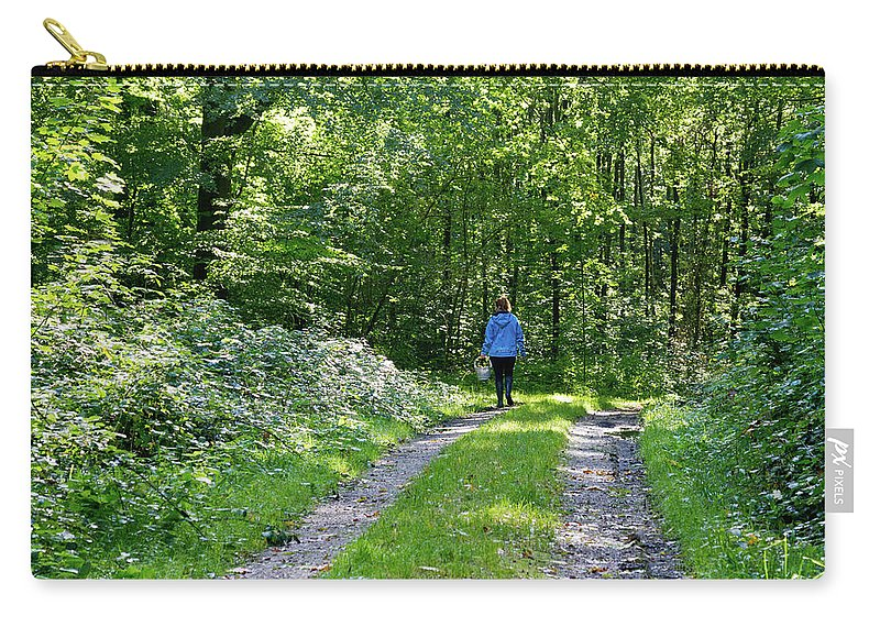Young Carry-all Pouch featuring the photograph Mushroom Hunting by Bernard Barcos