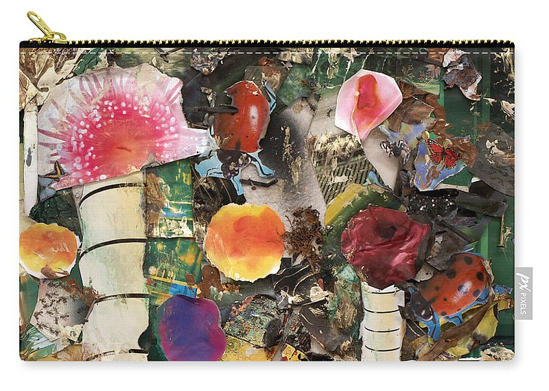 Abstract Carry-all Pouch featuring the mixed media Mushroom by Jaime Becker