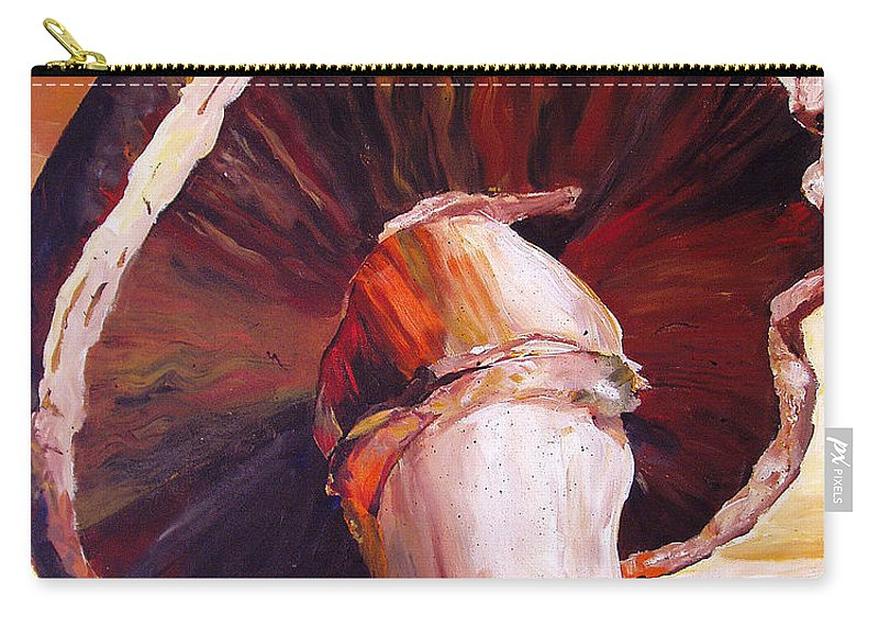 Mushroom Carry-all Pouch featuring the painting Mushroom Still Life by Toni Grote