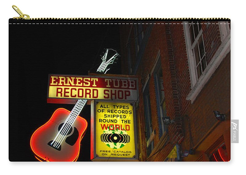 Nashville Carry-all Pouch featuring the photograph Music City Nashville by Susanne Van Hulst