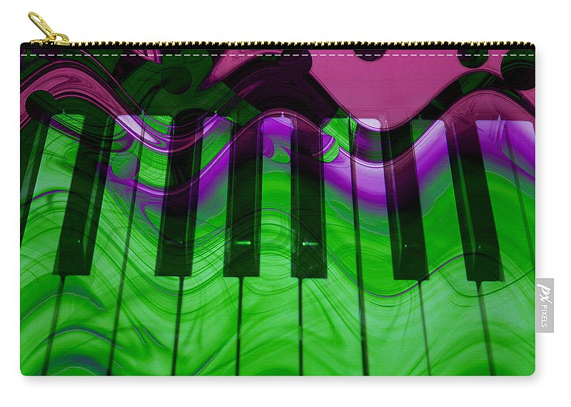 Music In Color Carry-all Pouch featuring the photograph Music In Color by Linda Sannuti