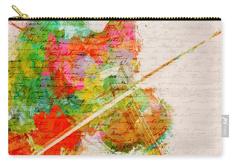 Violin Carry-all Pouch featuring the digital art Music In My Soul by Nikki Smith