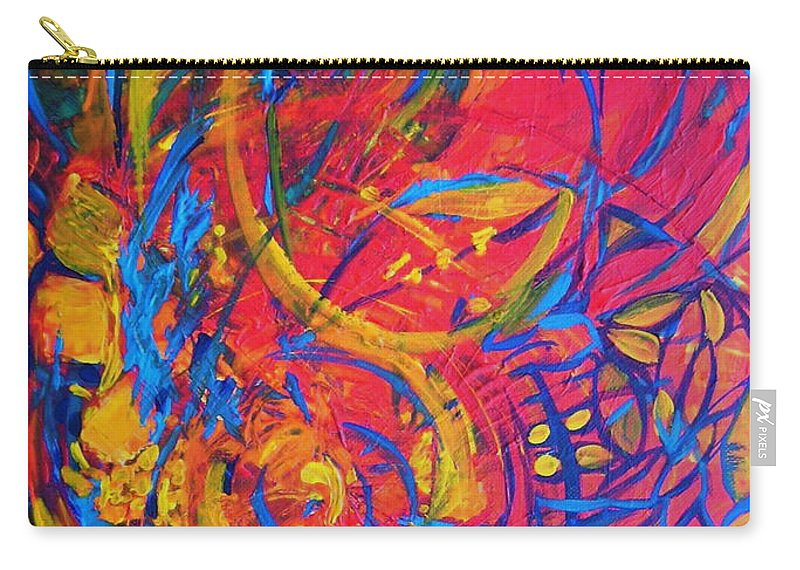Abstract Carry-all Pouch featuring the painting Music by Jeanette Jarmon