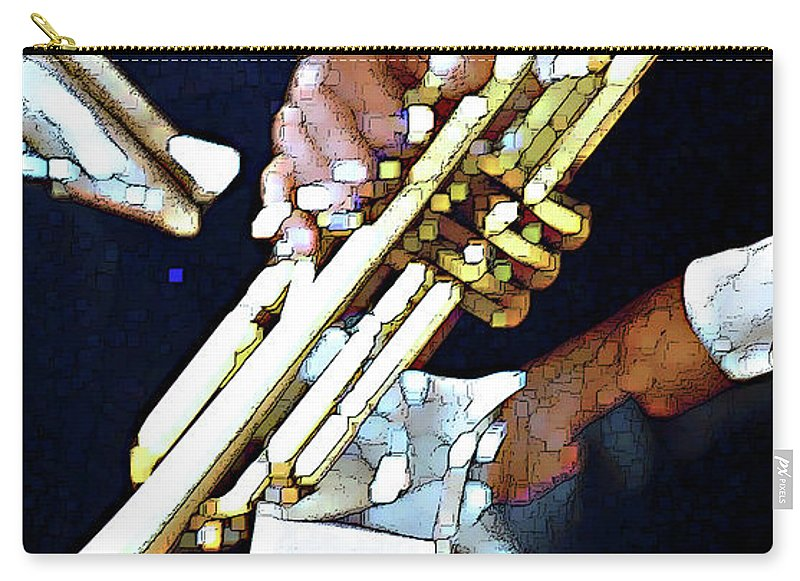 Abstract Carry-all Pouch featuring the photograph Music Man Trumpet by Linda Parker