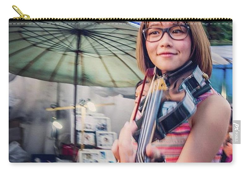 Busking Carry-all Pouch featuring the photograph Music On The Streets, Chiang Mai by Aleck Cartwright