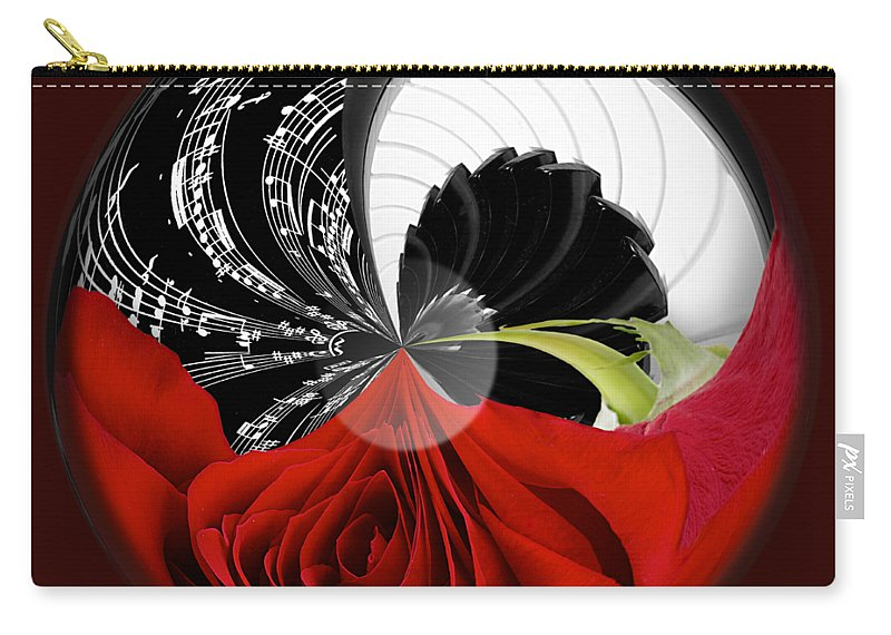 Rose Carry-all Pouch featuring the photograph Music Orbit by Phyllis Denton