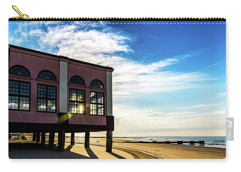 J. Zaring Carry-all Pouch featuring the photograph Music Pier Flare by Joshua Zaring