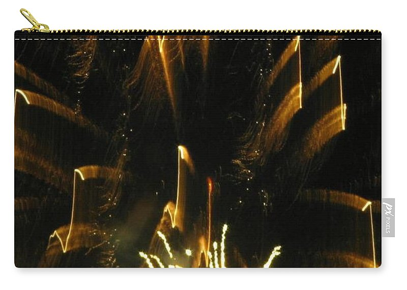 Fireworks Carry-all Pouch featuring the photograph Music To My Eyes by Rhonda Barrett