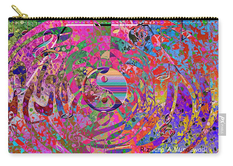 Musical Harmony Carry-all Pouch featuring the digital art Musical Harmony by Rizwana A Mundewadi