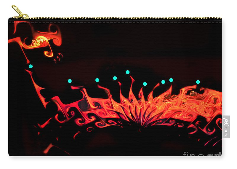 By Paul Davenport Carry-all Pouch featuring the digital art Musical Interlude 10. by Paul Davenport