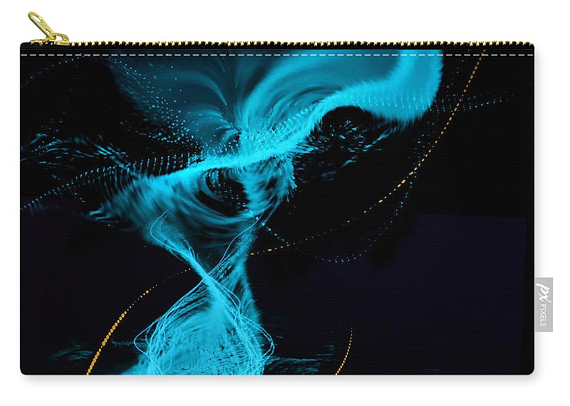 By Paul Davenport Carry-all Pouch featuring the digital art Musical Interlude 13. by Paul Davenport
