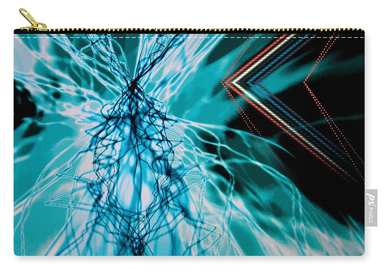 By Paul Davenport Carry-all Pouch featuring the digital art Musical Interlude 14. by Paul Davenport