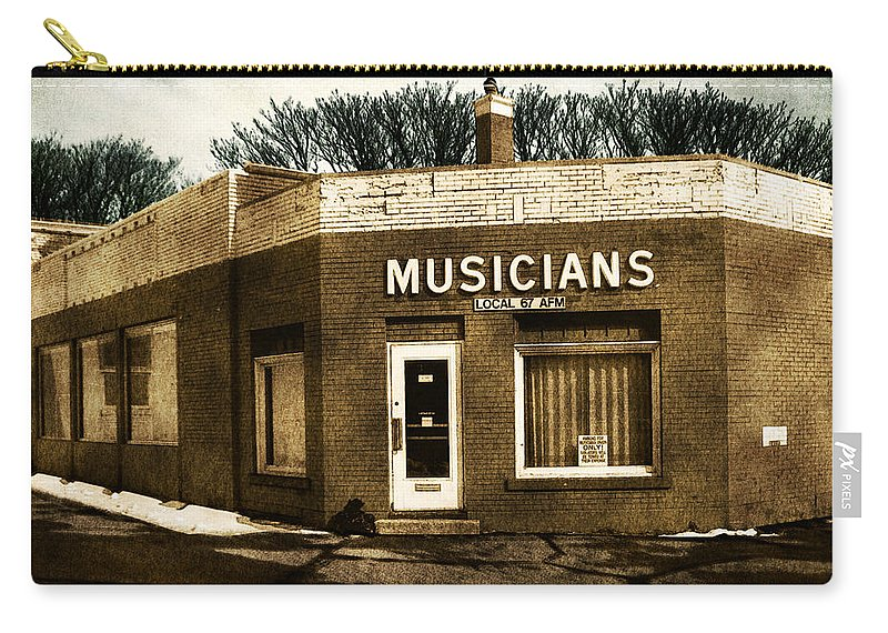 1950s Carry-all Pouch featuring the photograph Musicians Local 67 by Tim Nyberg
