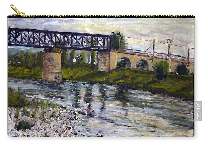Landscape Carry-all Pouch featuring the painting Muskar by Pablo de Choros