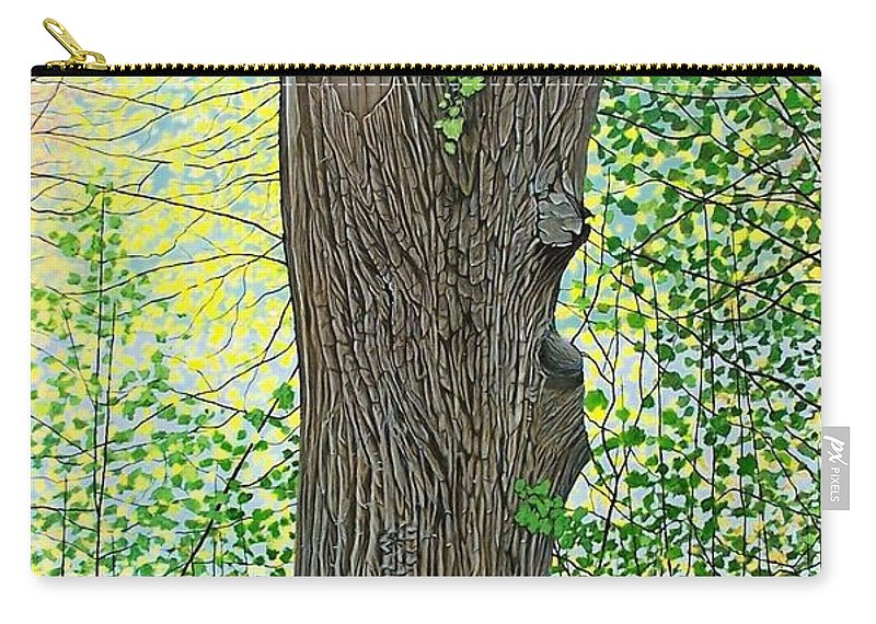 Landscape Carry-all Pouch featuring the painting Muskoka Maple by Kenneth M Kirsch