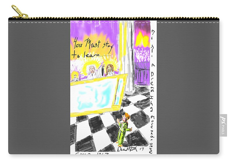 Heavenly Bodies Hosts Council Dream Visitation Carry-all Pouch featuring the digital art Must I Stay? by David R Keith