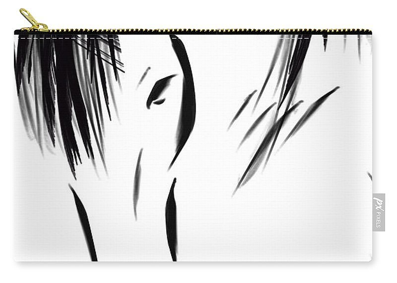 Horse Carry-all Pouch featuring the digital art Mustang II by Dreana Stenz