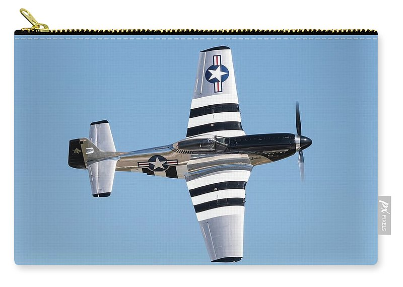 Speed Carry-all Pouch featuring the photograph Mustang Photo Pass - 2017 Christopher Buff, Www.aviationbuff.com by Chris Buff