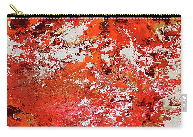 Fusionart Carry-all Pouch featuring the painting Mustang by Ralph White